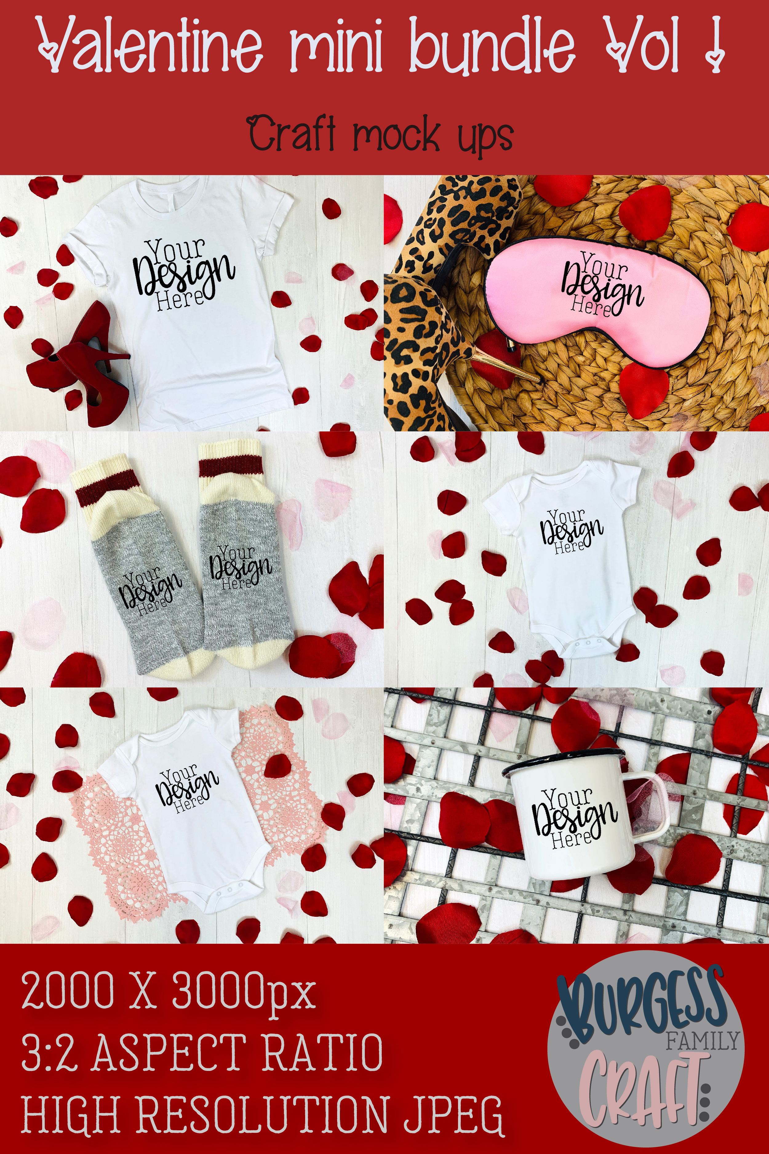 Valentine Mini Bundle Vol I | Craft mock ups example image 8