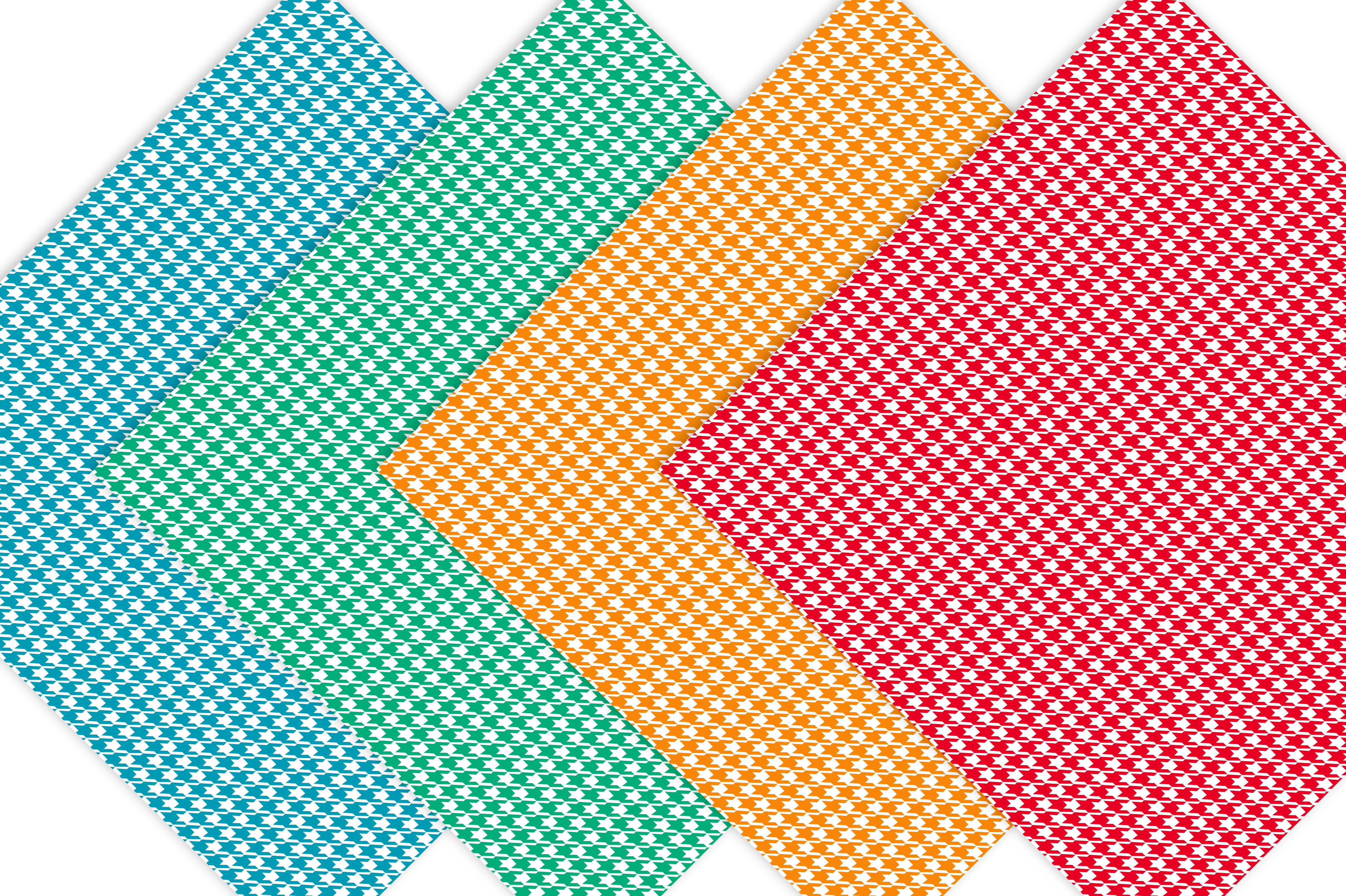 Houndstooth Digital Paper Pack - Rainbow example image 3