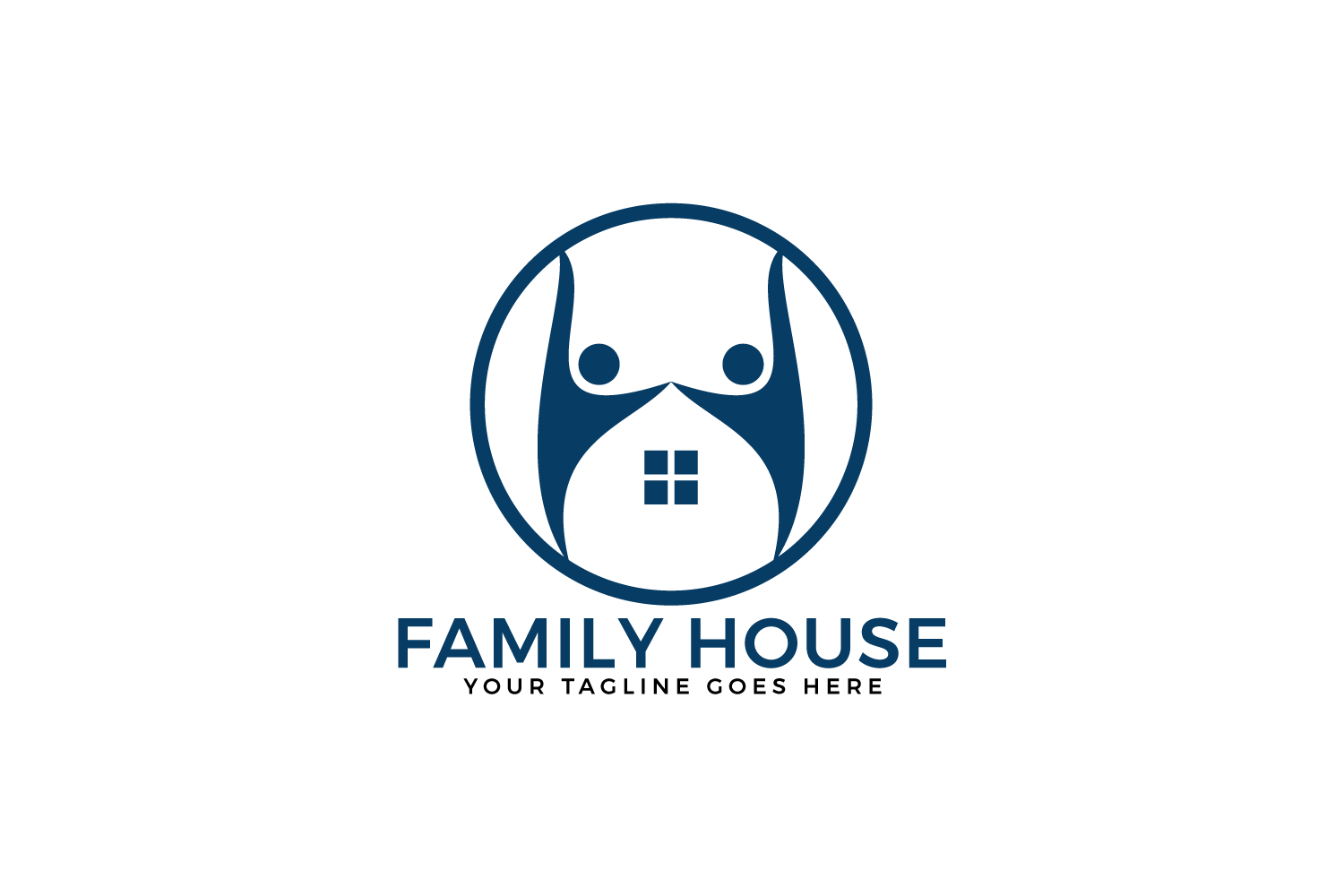 Family House Vector Logo Design. example image 2