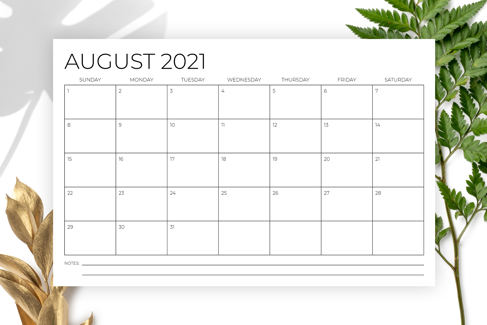 11 x 17 Inch Modern 2021 Calendar example image 4