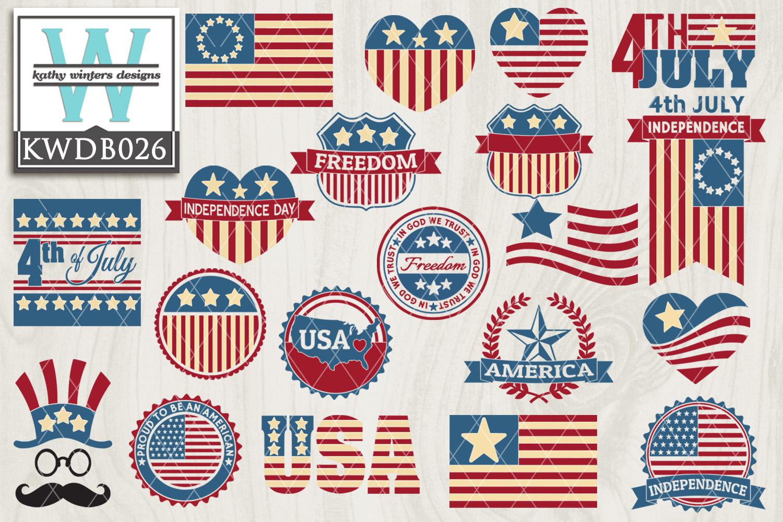 BUNDLE Patriotic SVG - Patriotic Bundle KWDB026 example image 1