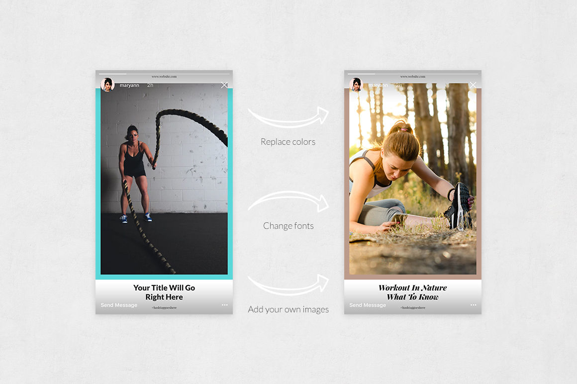 Fitness Animated Instagram Stories example image 5