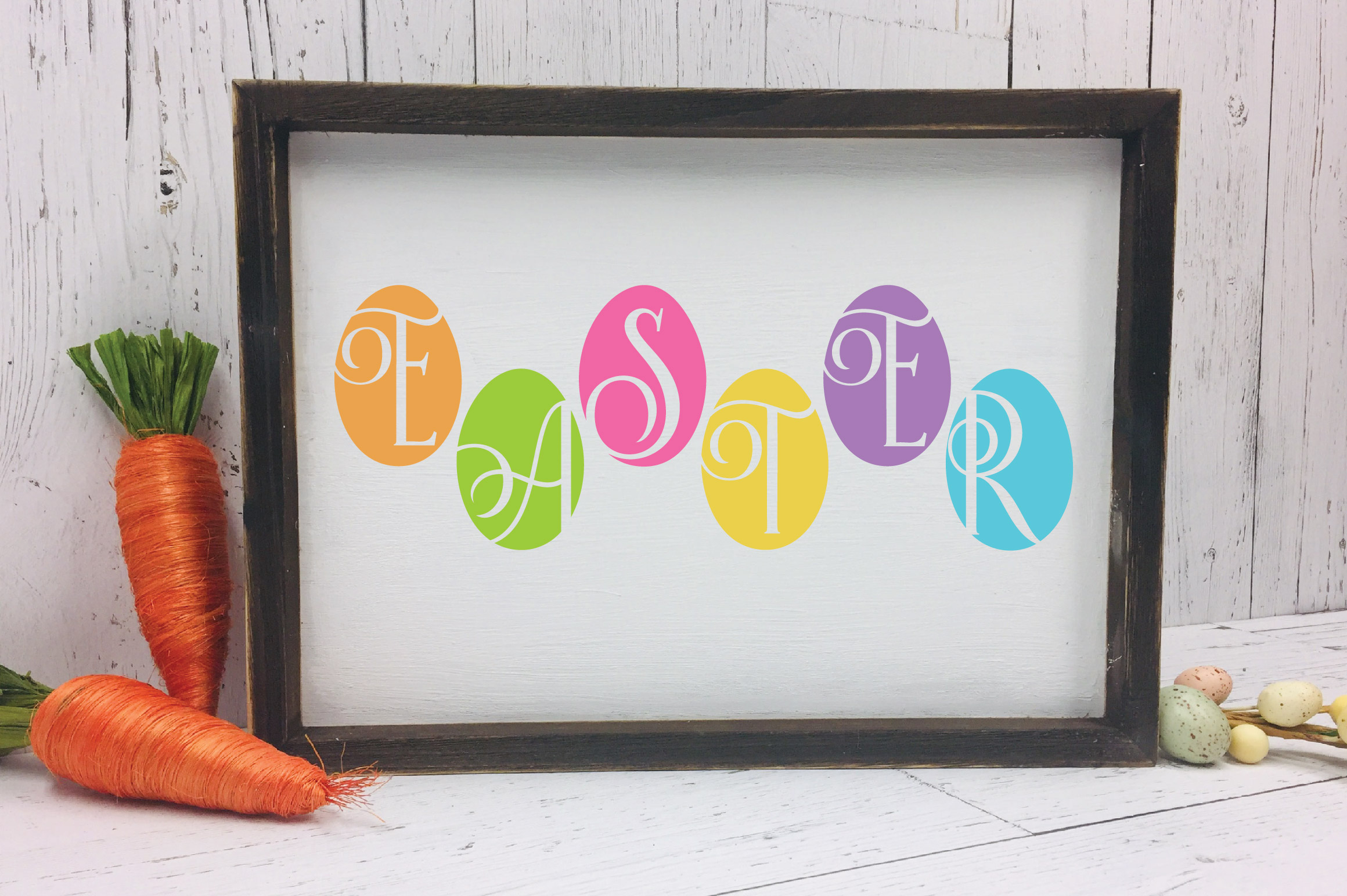 Easter SVG Cut File - Easter Eggs SVG DXF EPS PNG JPG AI example image 4