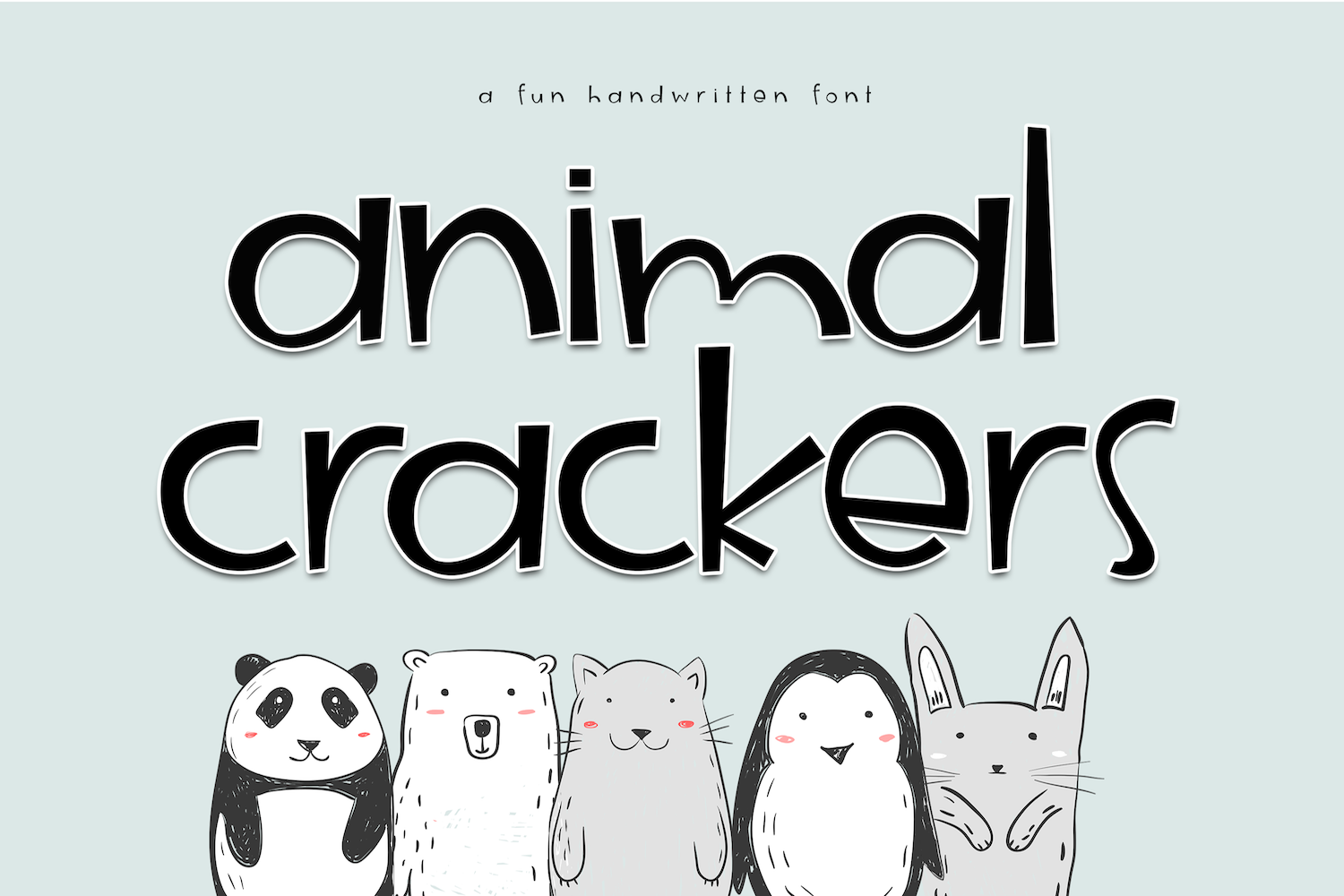 Animal Crackers - A Fun Handwritten Font example image 1