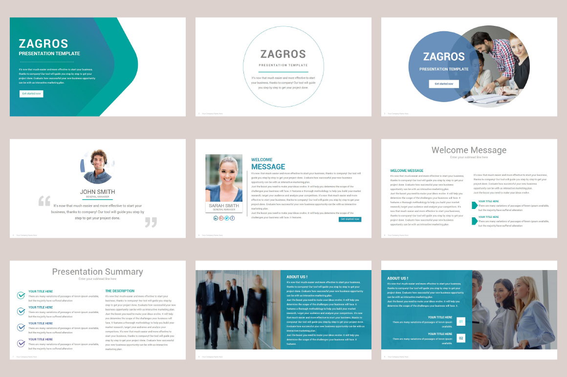 Zagros Keynote Template example image 5
