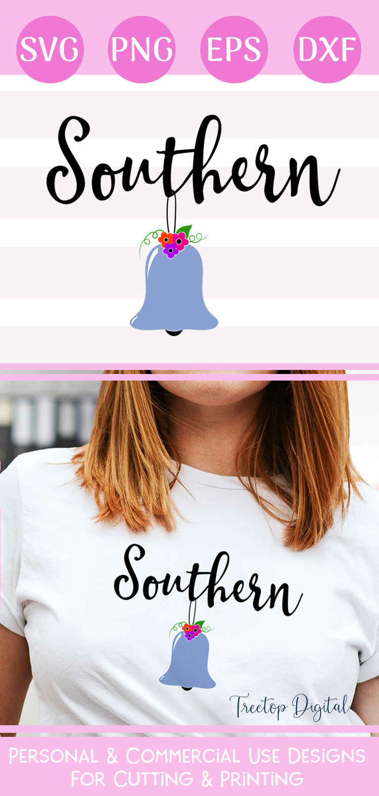 Southern Belle Cut / Print File, An SVG for the Southern Gal example image 3