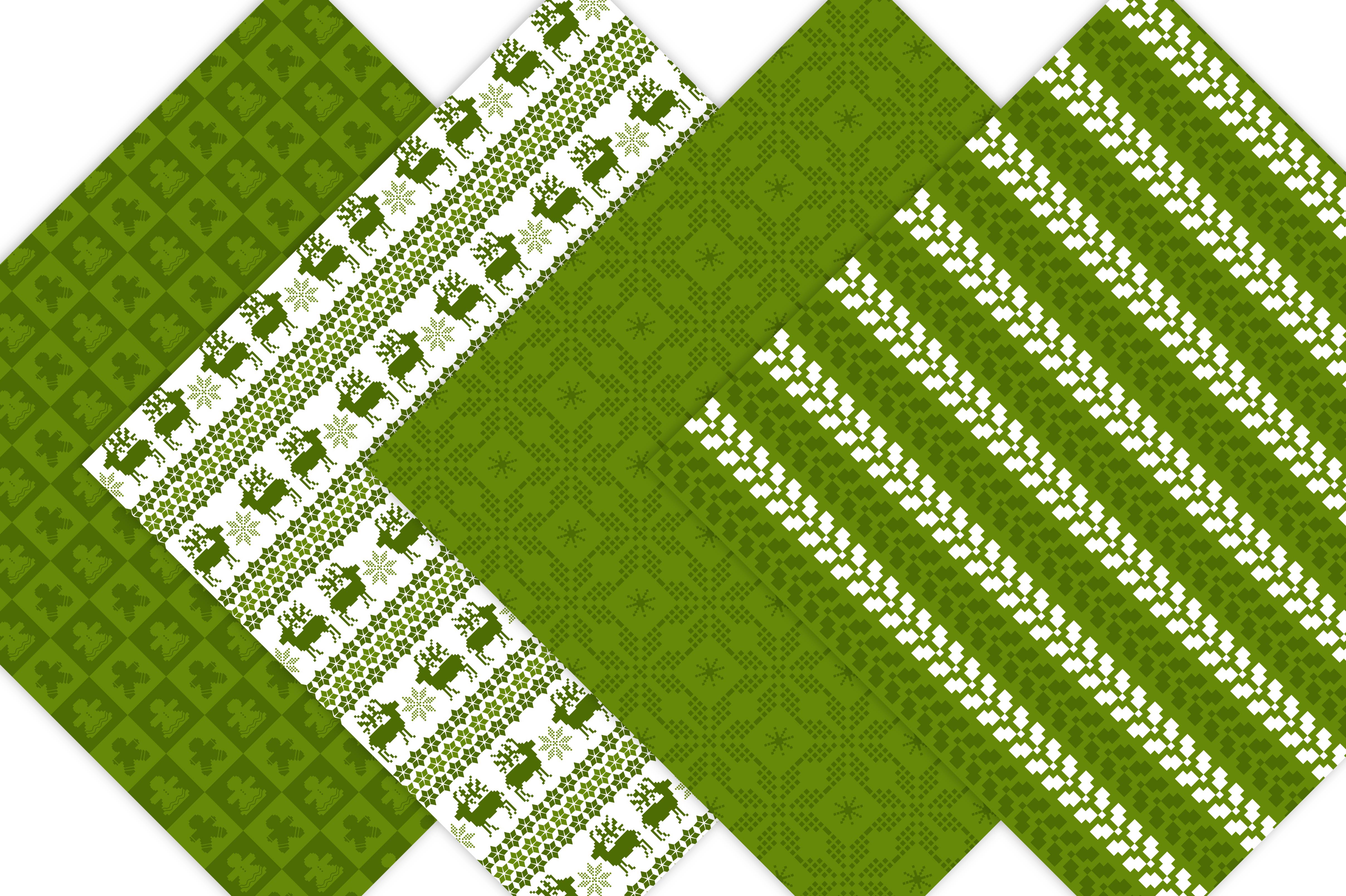 Green Nordic Patterns example image 3