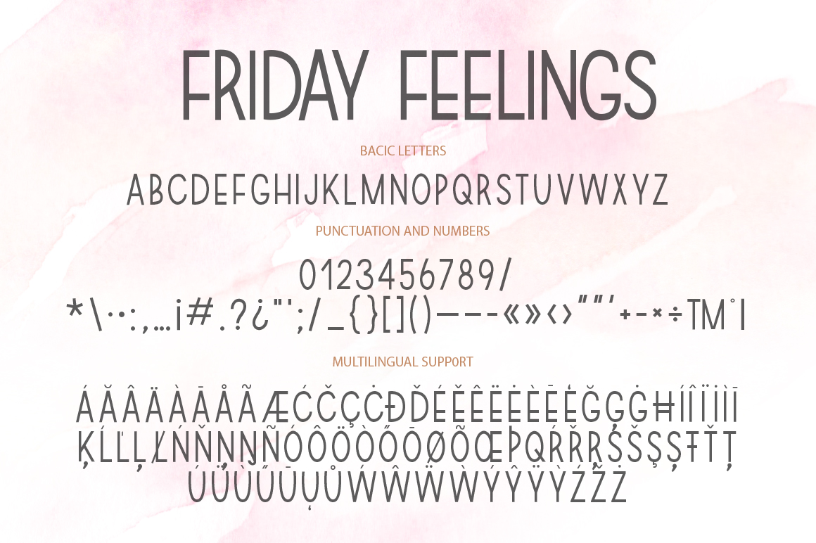 Friday feelings. Font duo. example image 13