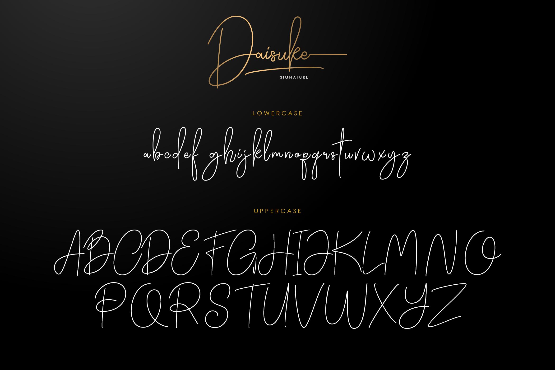 Daisuke - Signature Font example image 5