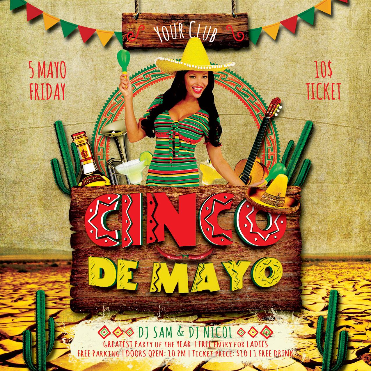 Cinco de Mayo Flyer example image 4