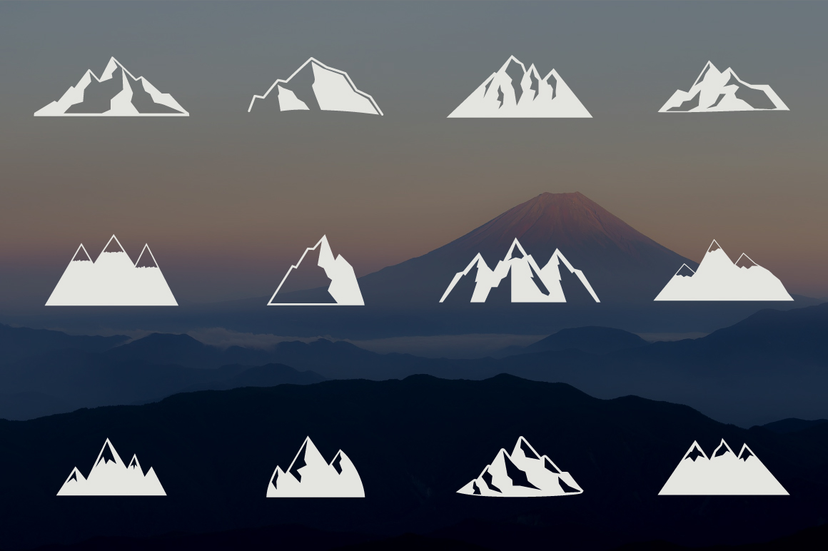 Mountain Shapes Collection. Vol.1 example image 3