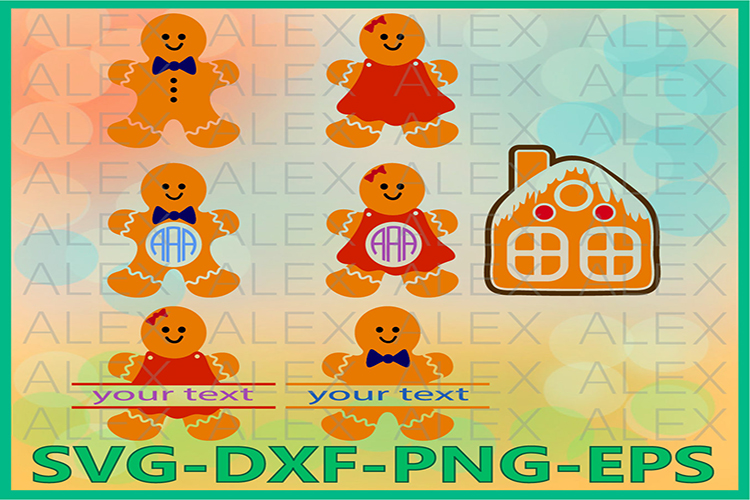 Gingerbread SVG, Christmas Gingerbread Svg example image 1
