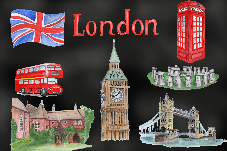 London symbols and landmark clipart Tower bridge, Big Ben example image 7