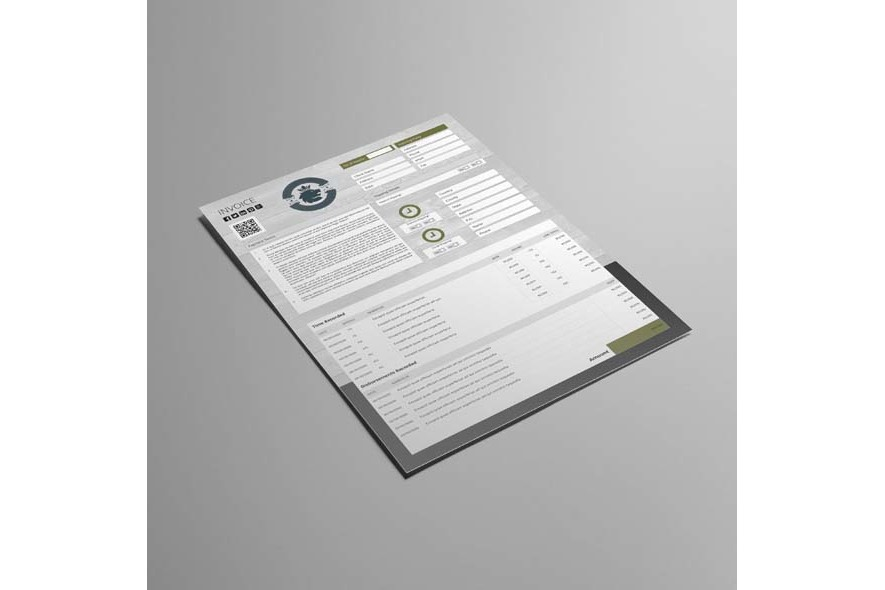 Company Invoice A4 Portrait Template example image 3