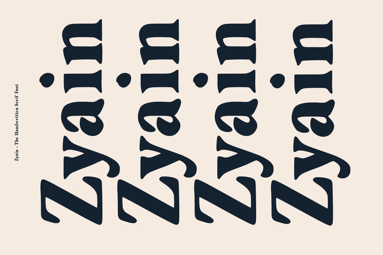 Zyain - The Handwritten Serif Font example image 6