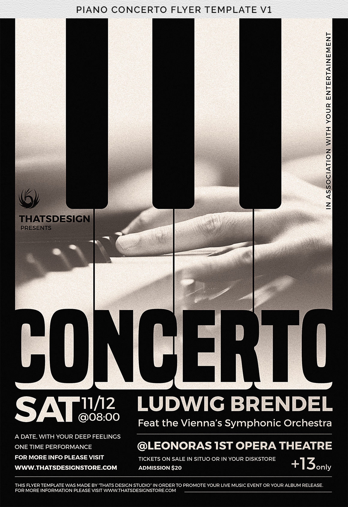 Piano Concerto Flyer Template V1 example image 7