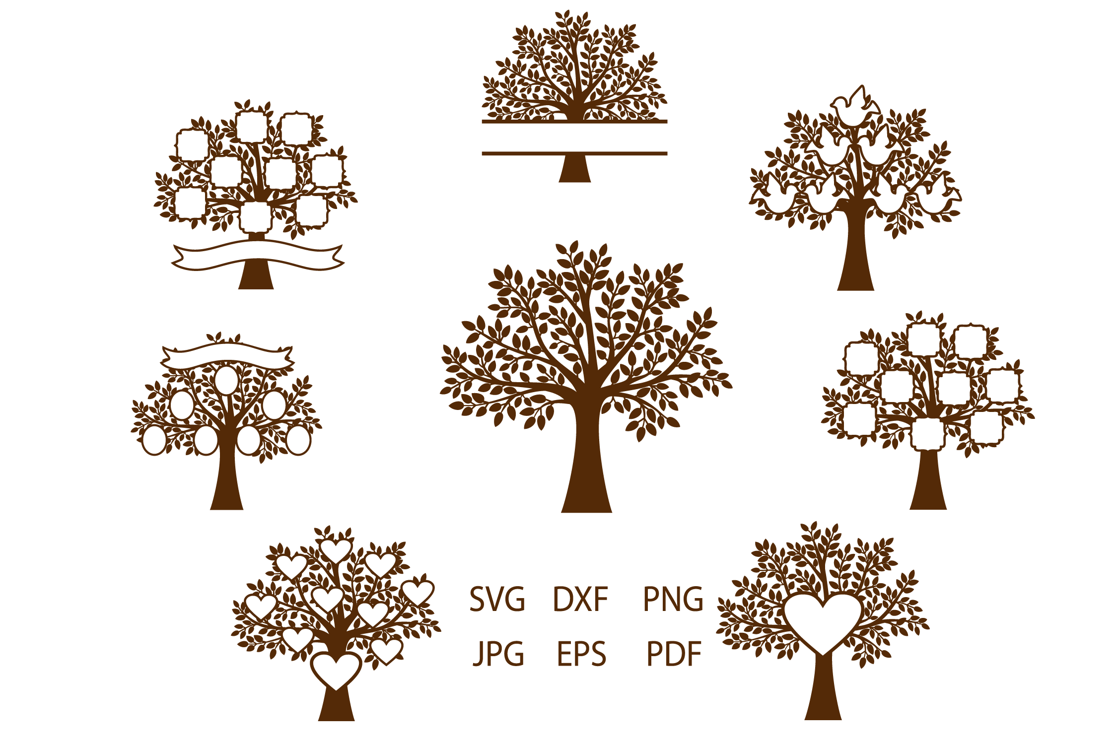 Family Tree SVG, Trees, Tree Cut File, Tree SVG For Cutting example image 2