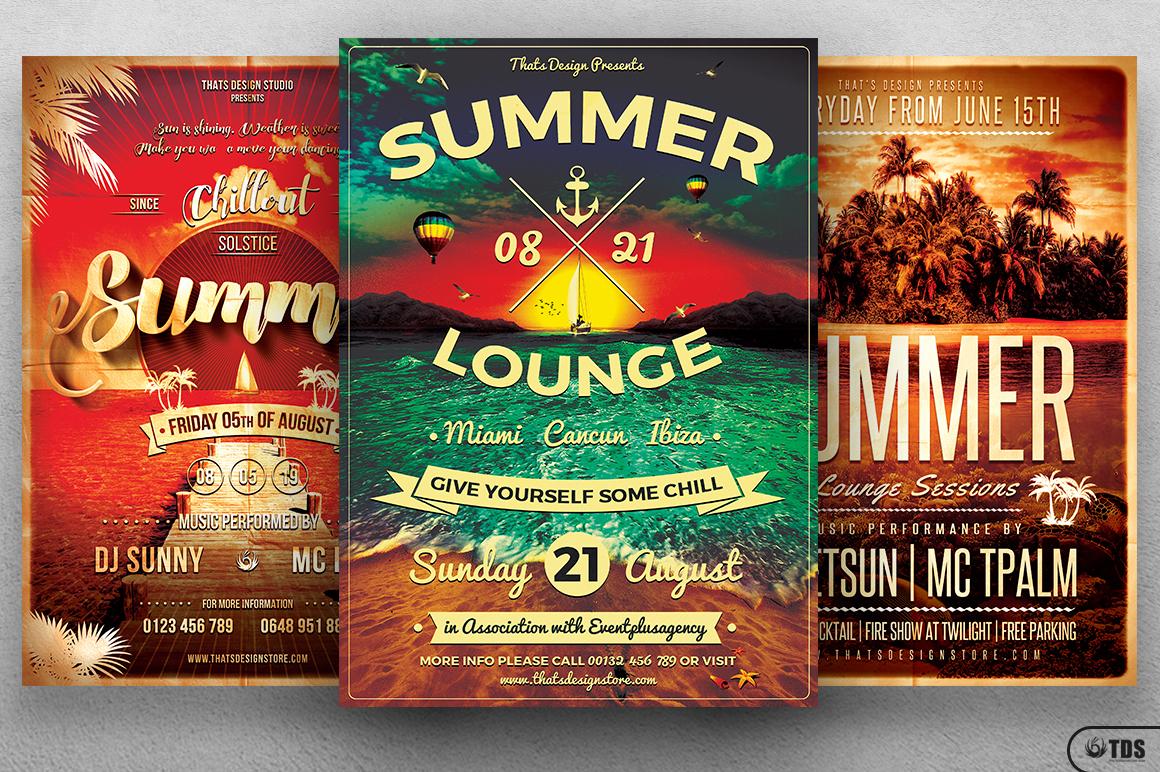 Summer Lounge Flyer Bundle example image 3