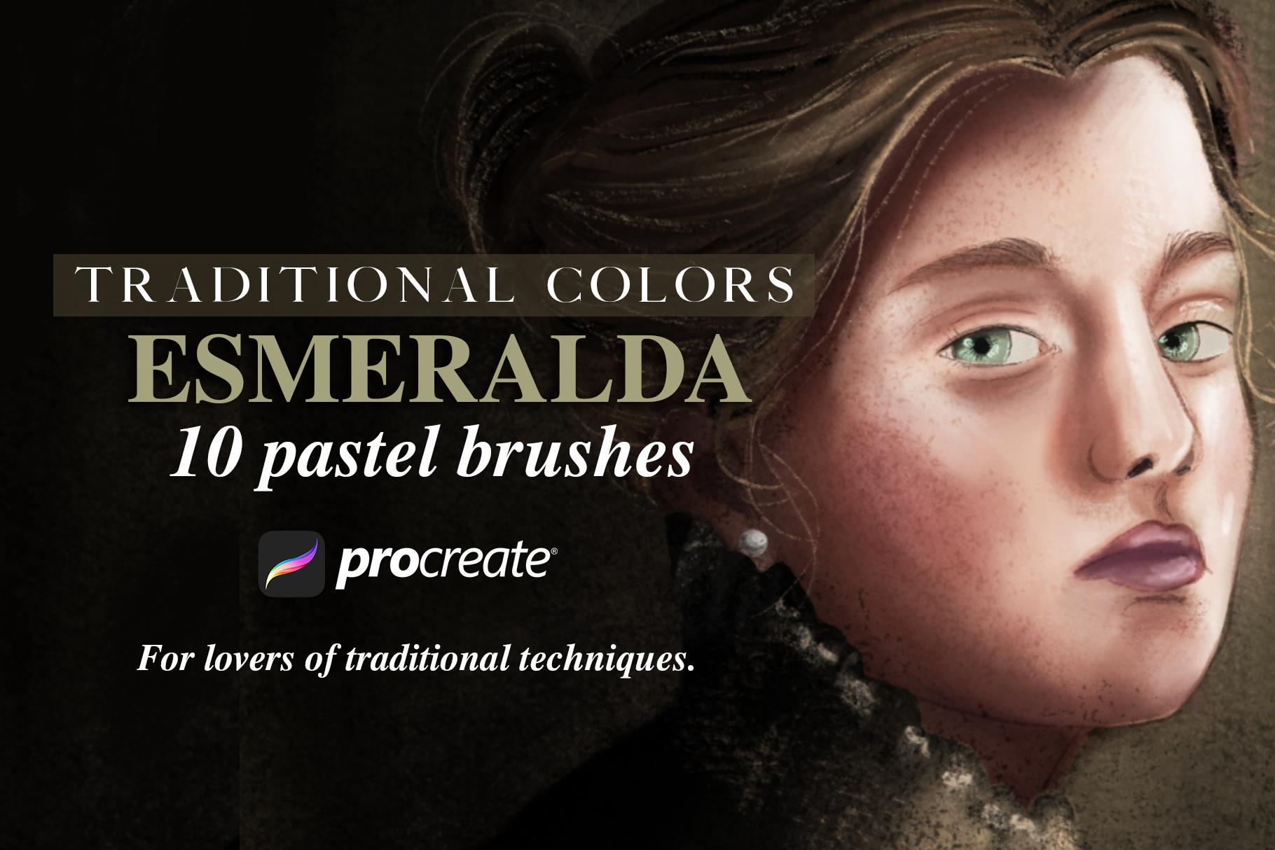Traditional Colors Esmeralda Pastel example image 1