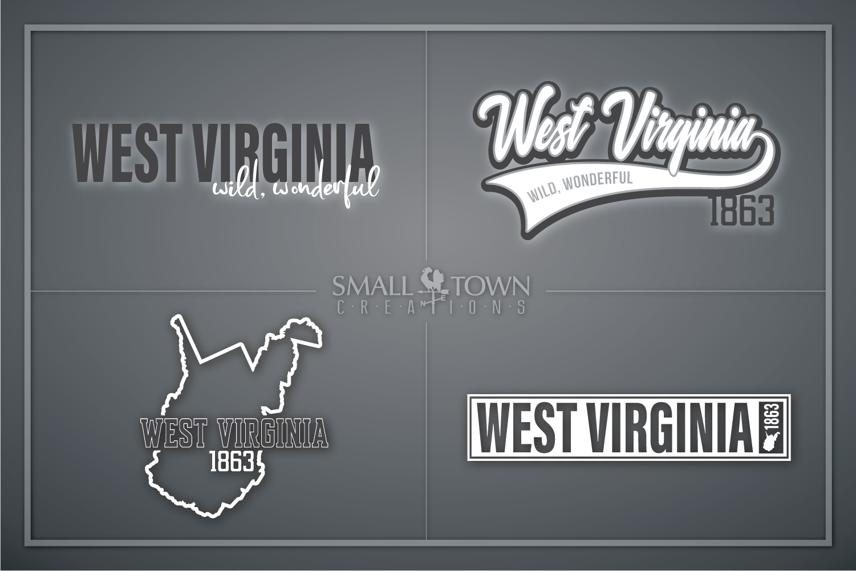 West Virginia, Wild Wonderful - slogan, Logo, PRINT, CUT & D example image 1