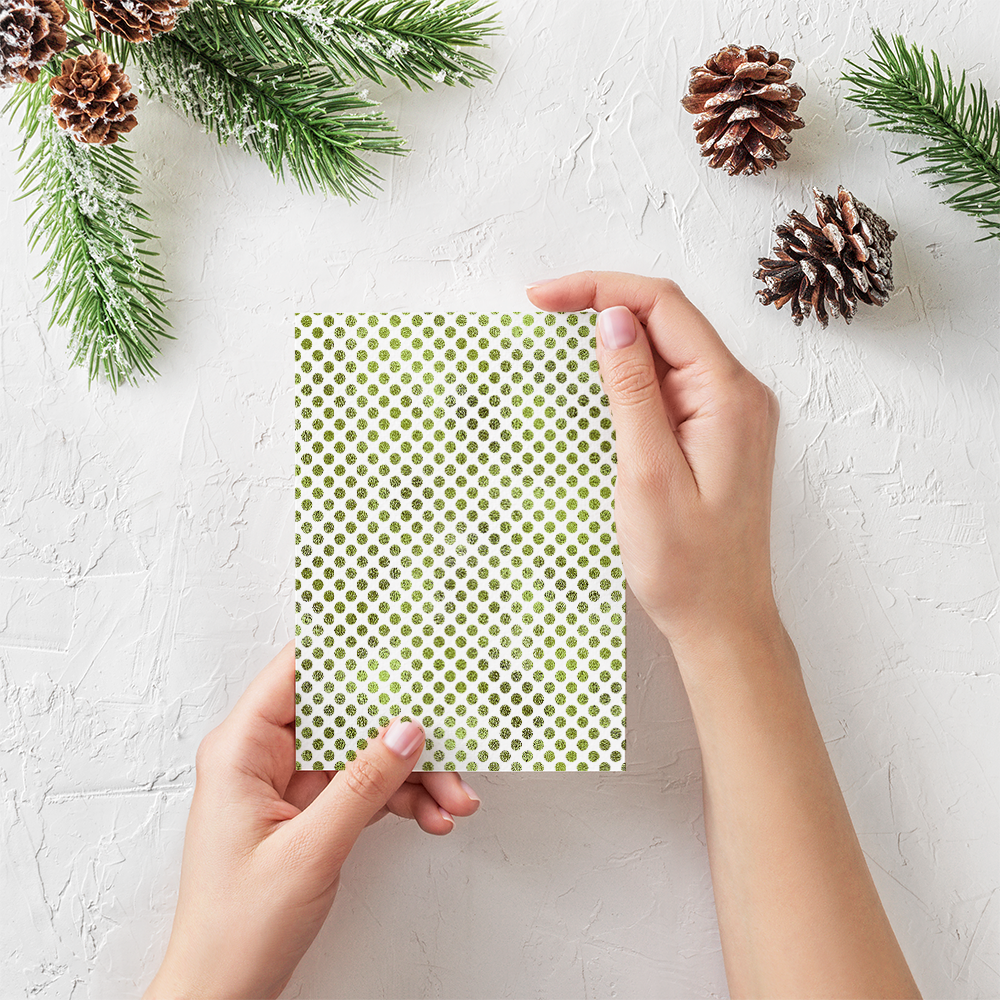 20 Seamless Foil Dot Patterns for Christmas example image 5