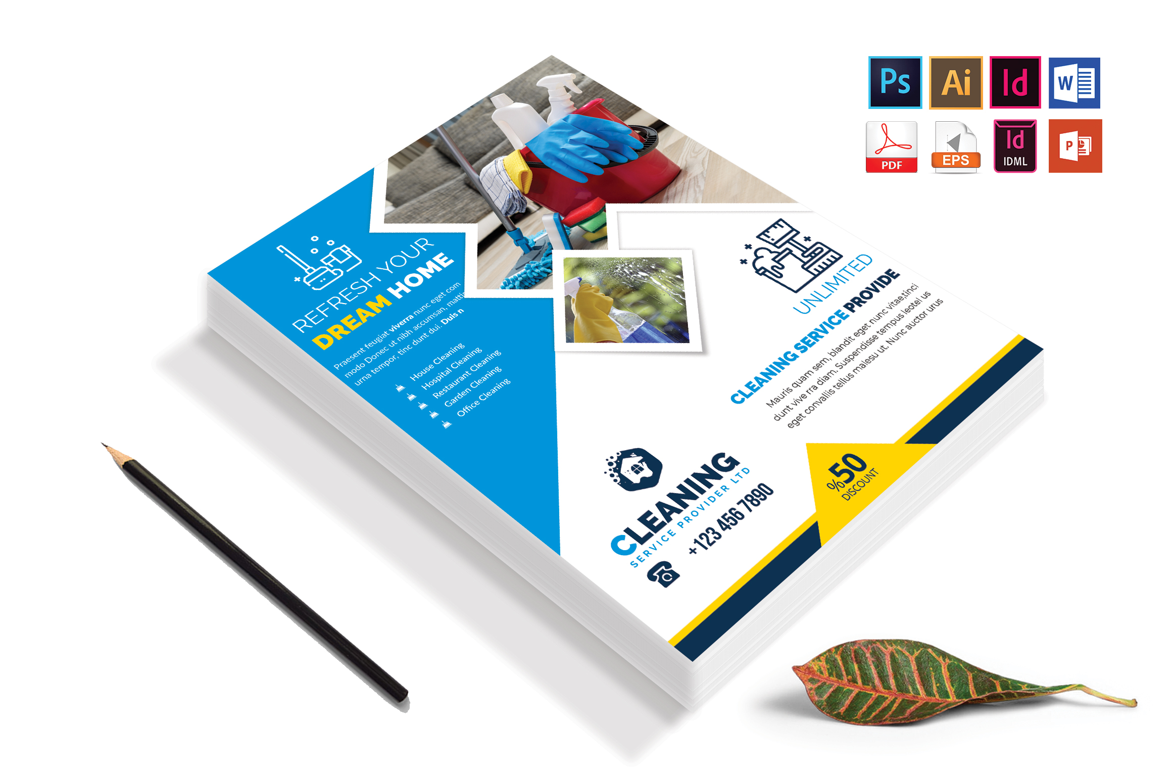 Cleaning Service Flyer Vol-06 example image 4