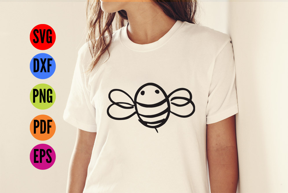 Bee SVG Cutting File  example image 3