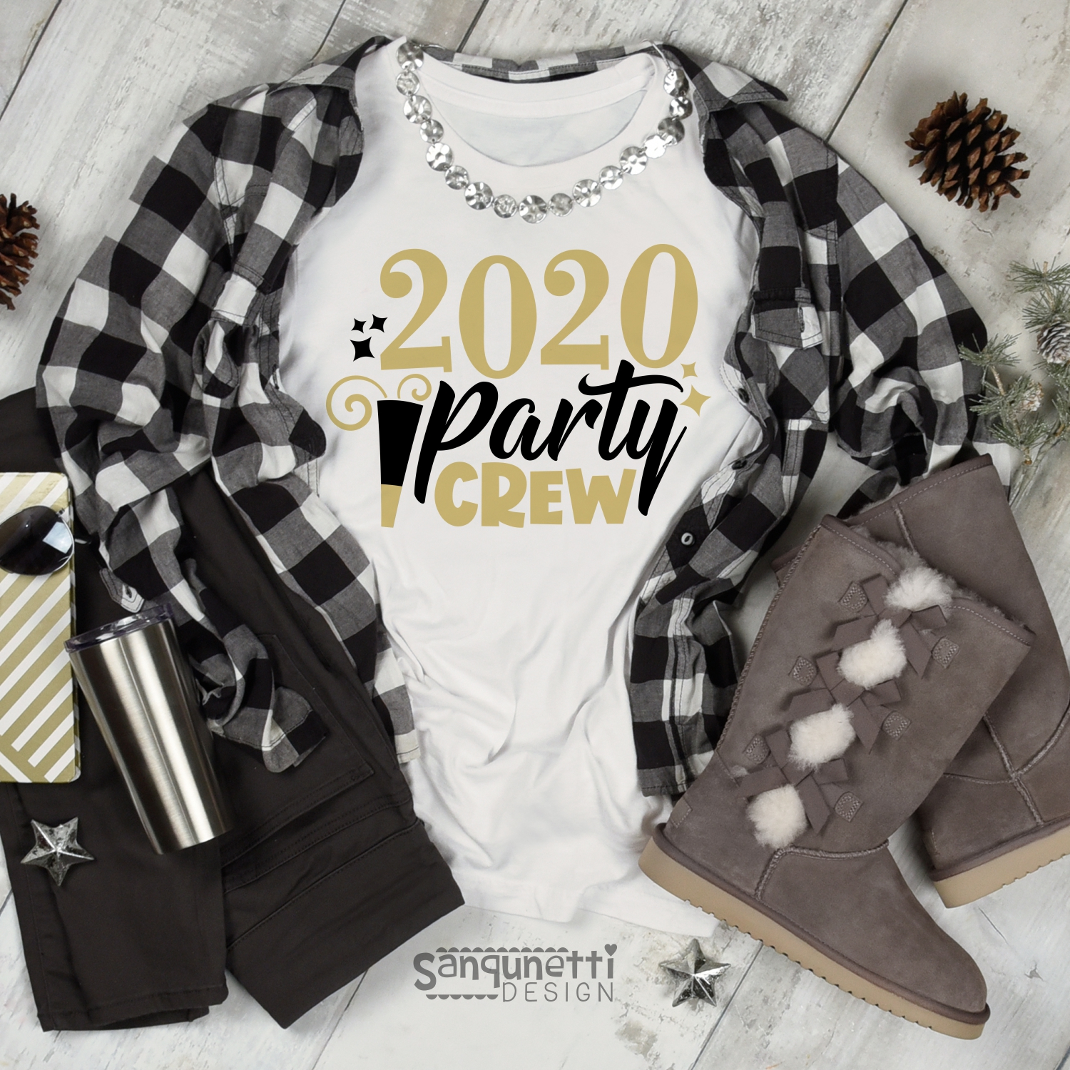 2020 Party Crew SVG, New Year cutting file example image 2