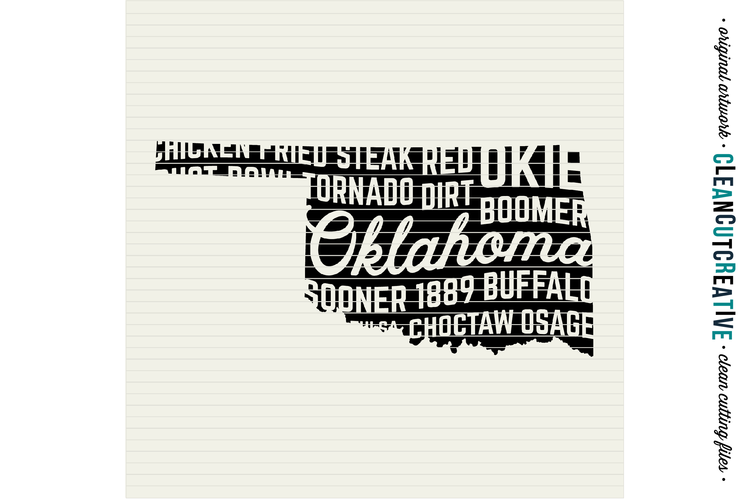 Oklahoma State design - SVG DXF EPS PNG - Cricut & Silhouette - clean cutting files example image 3