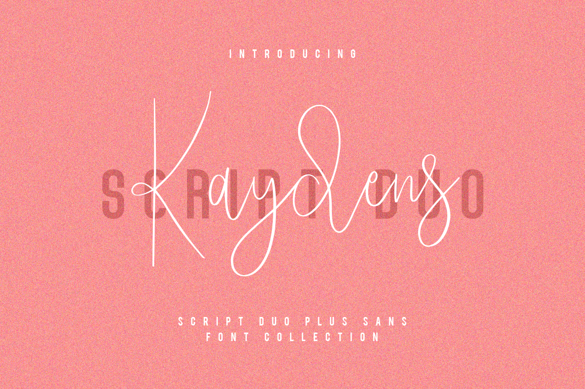 Kaydens Script Font Collection example image 1
