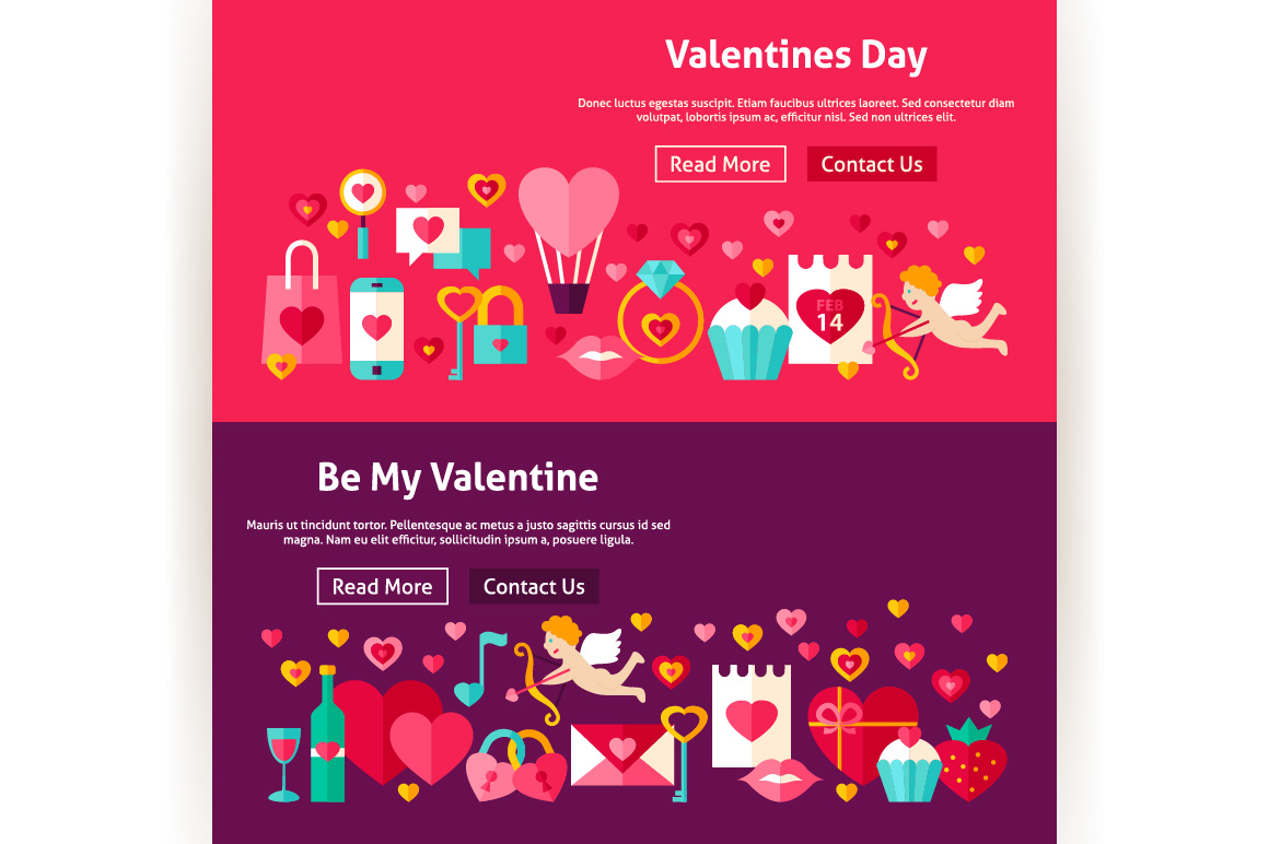 Valentine's Day Website Banners example image 3