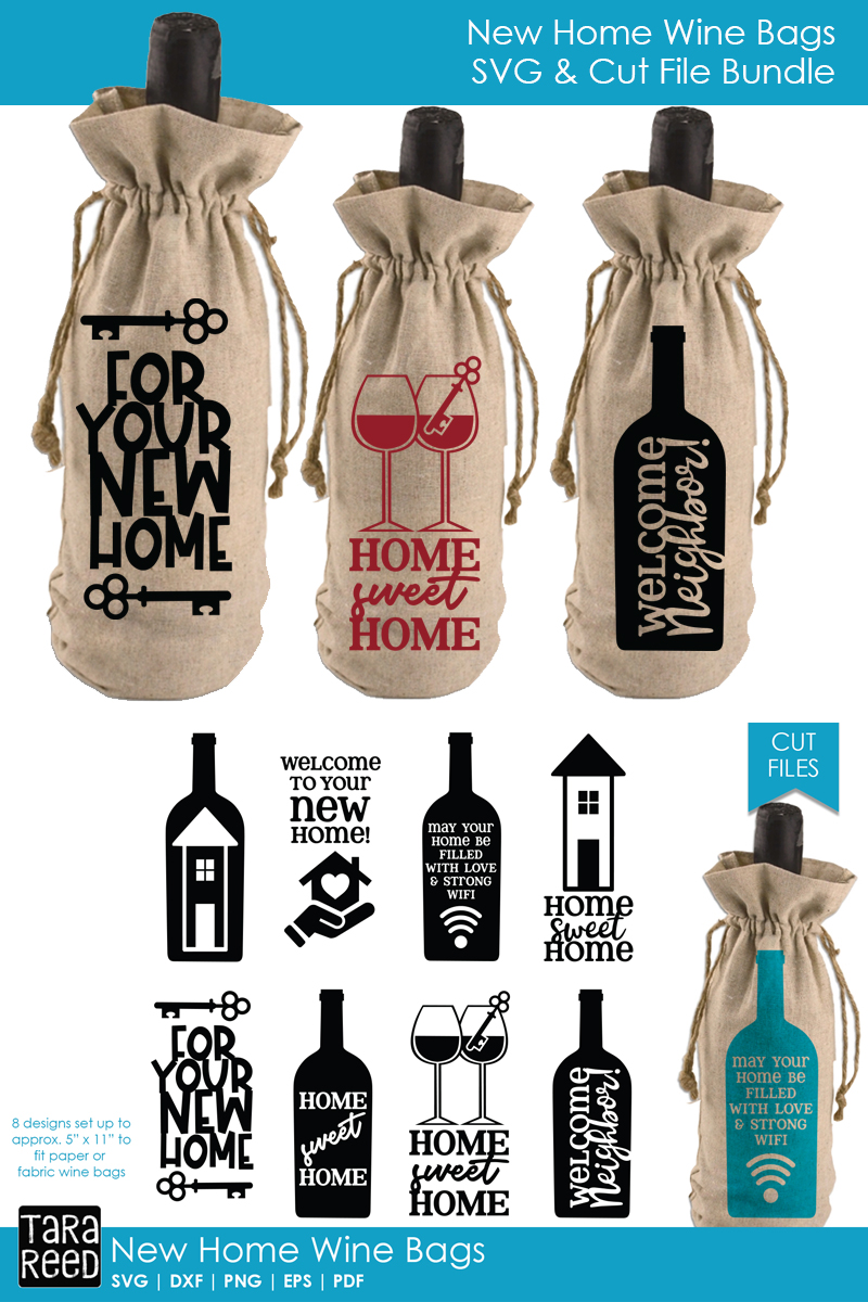 New Home Gift Wine Bags - SVG or Cut Files for Crafters example image 2
