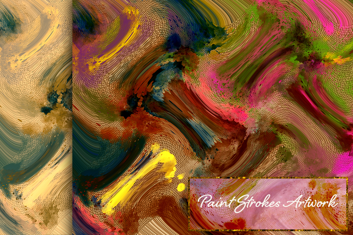 22 Colorful backgrounds. Watercolor splatter on canvas paper example image 4