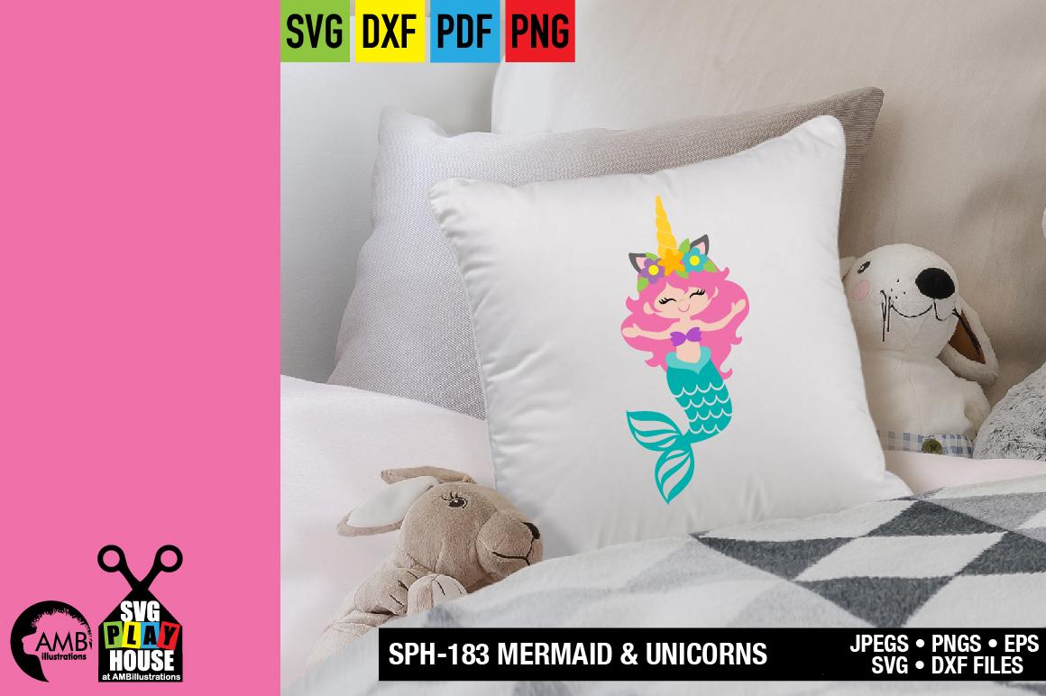 Mermaid and unicorns svg SPH-183 example image 7