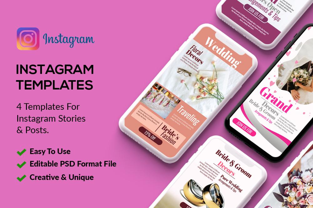 4 Instagram Stories - Wedding example image 1
