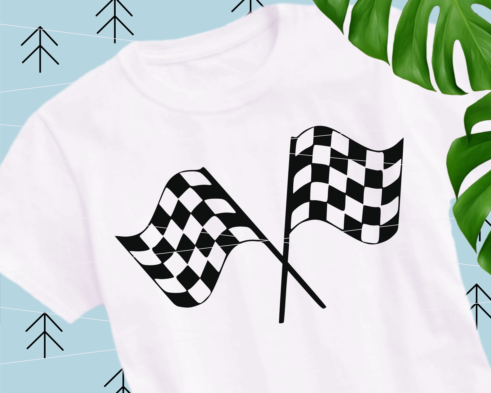 Checkered flag svg example image 1