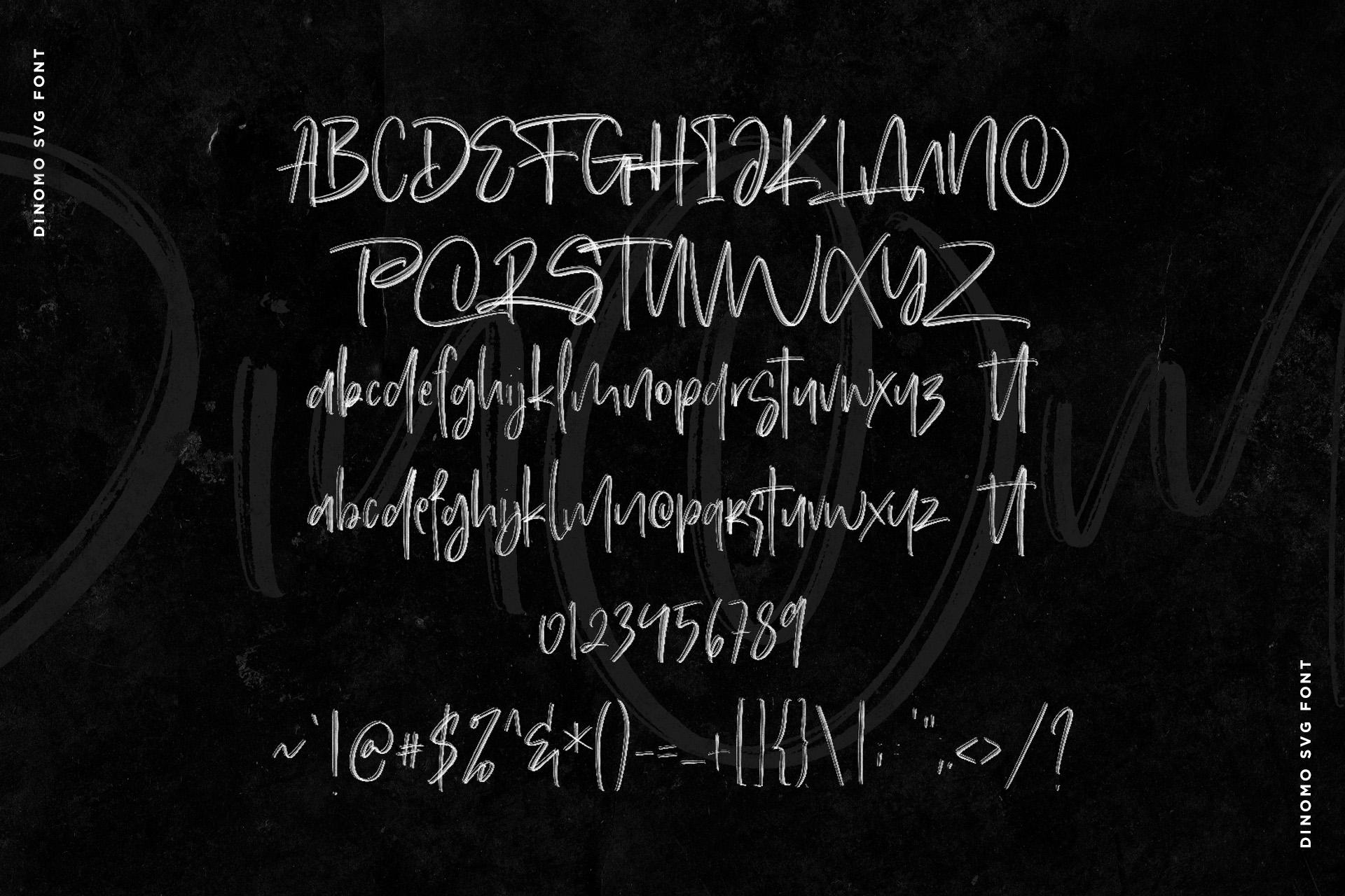 Dinomo SVG Brush Font example image 9
