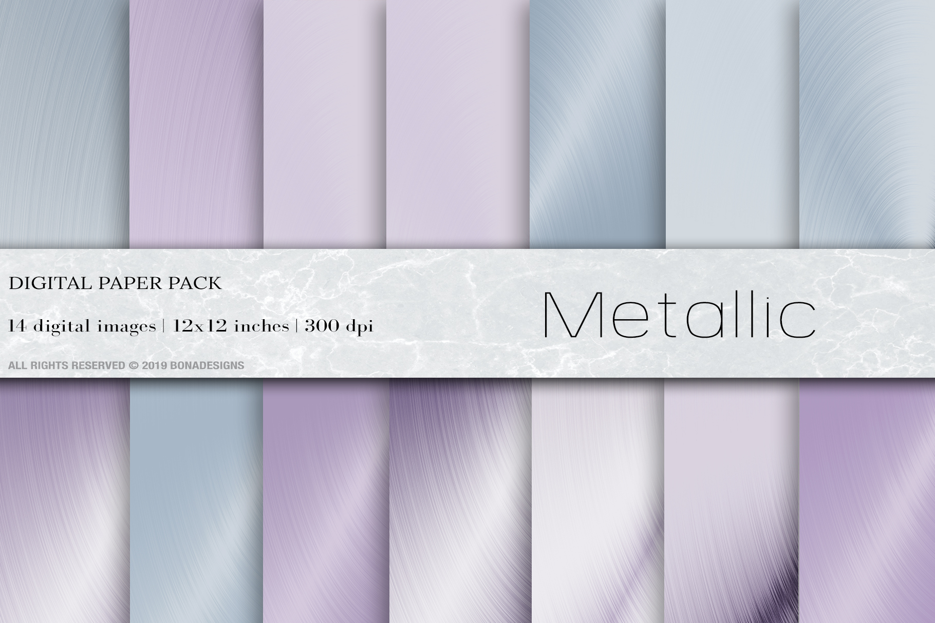 Metallic foil Digital Papers, Ultraviolet background example image 1