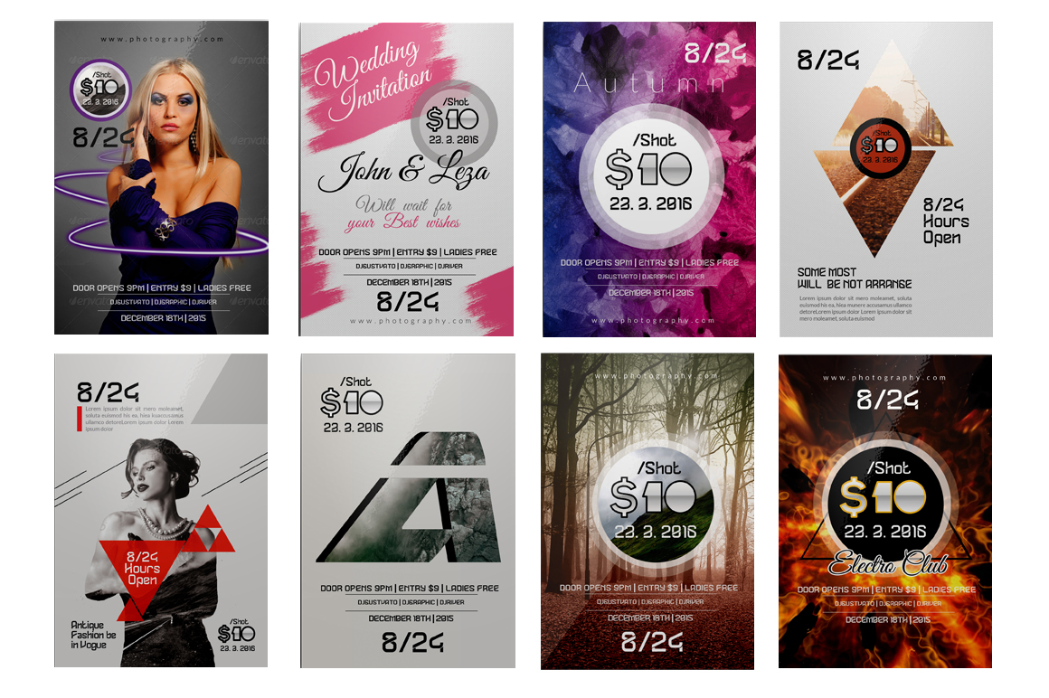 100 Party Flyers Bundle example image 2