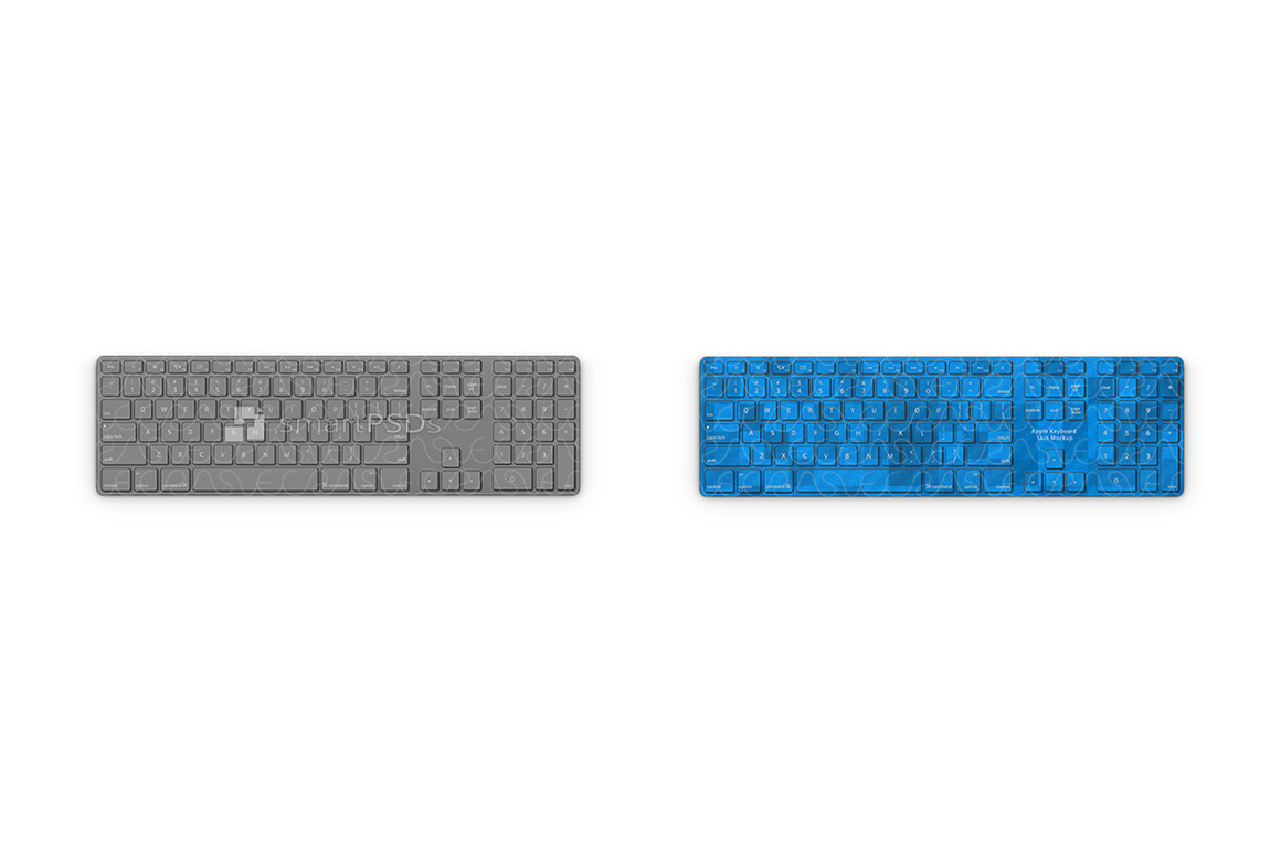 Apple Wired Keyboard 2003 Skin Mockup Template example image 2