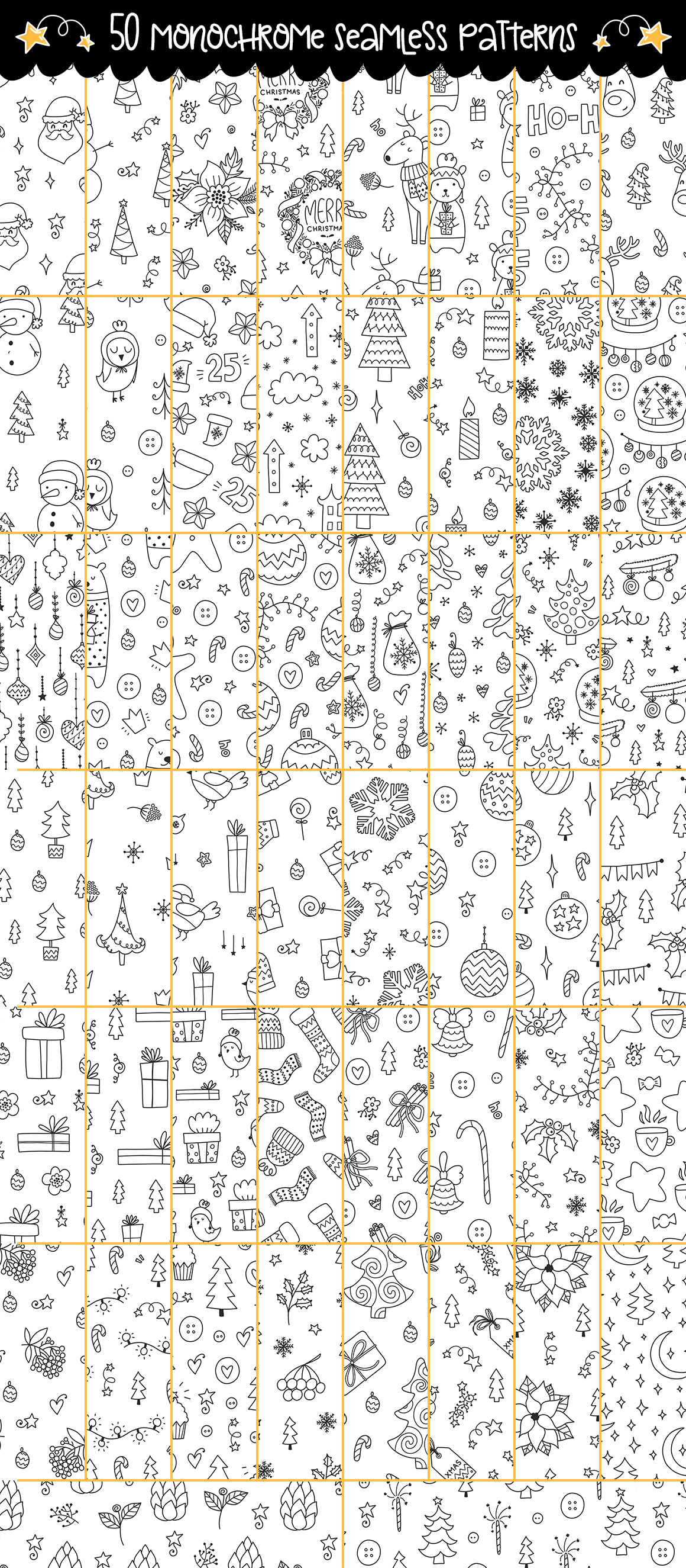 610+ Christmas Doodles - Clipart Set example image 9