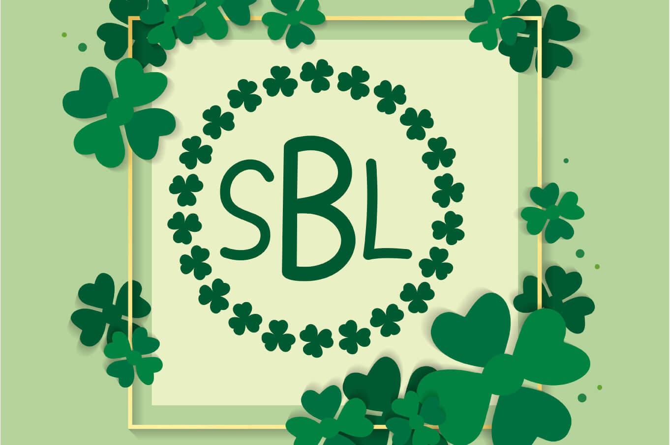 Shamrock Parade - A Lucky Monogram Font example image 4