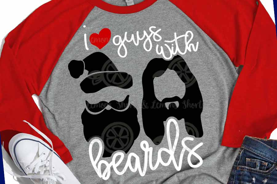 Guys with Beards Santa and Jesus svg, Christmas svg example image 1