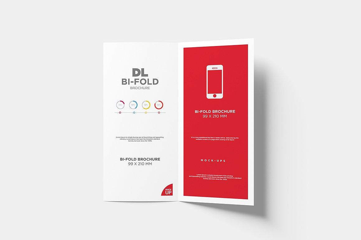 DL Bi-fold Brochure Mock-Up example image 6