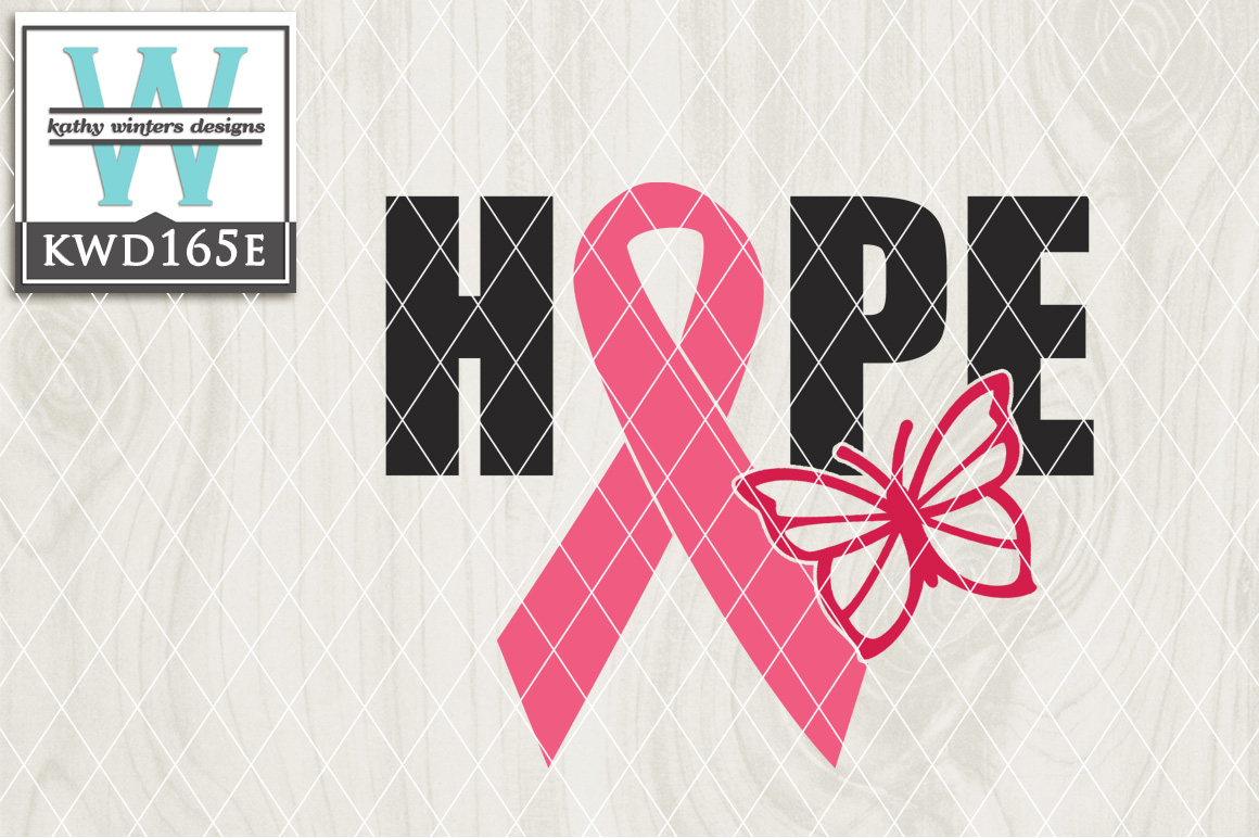 Breast Cancer Awareness Cutting File KWD165E example image 1