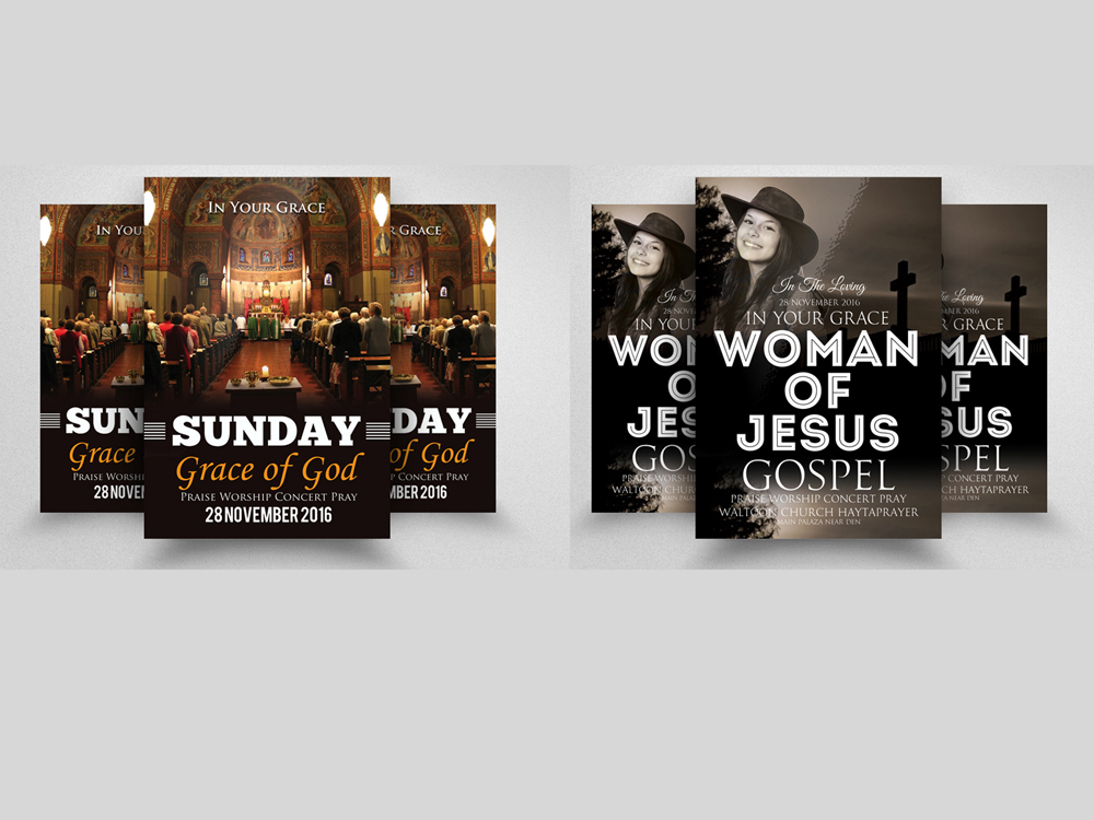10 Glory and Praise Church Flyer Template Bundle example image 2