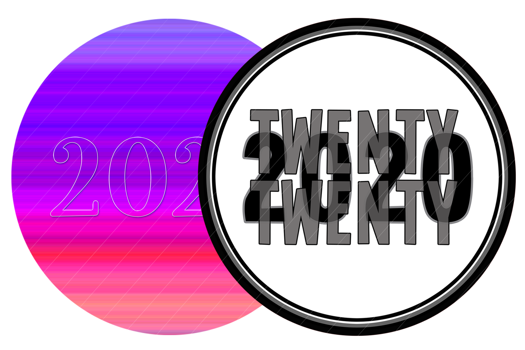 2020 New Year Designs for PRINTING, High Resolution example image 7