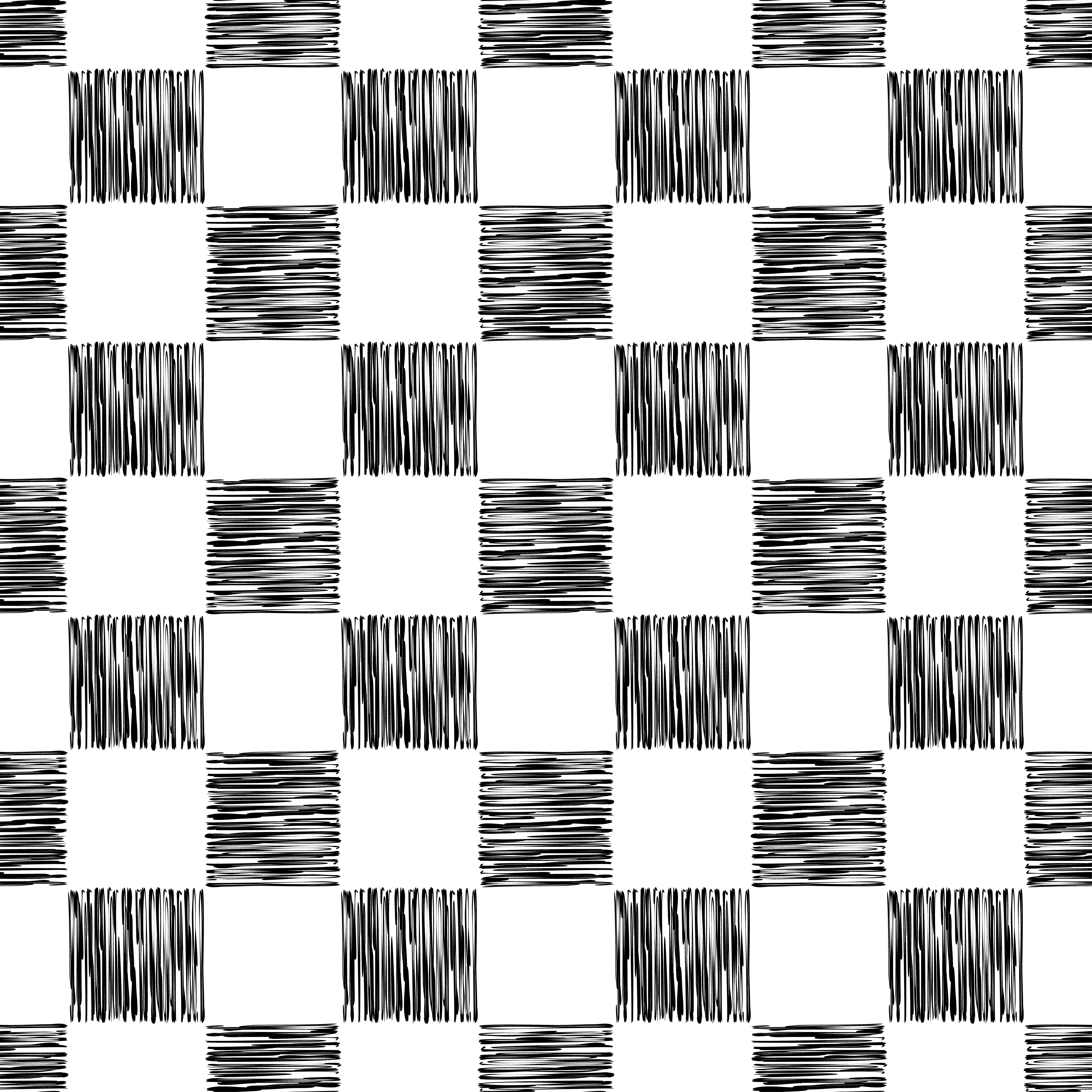 Seamless vector background of hand drawn squares. Lines textures of pen. Textile rapport.  example image 1