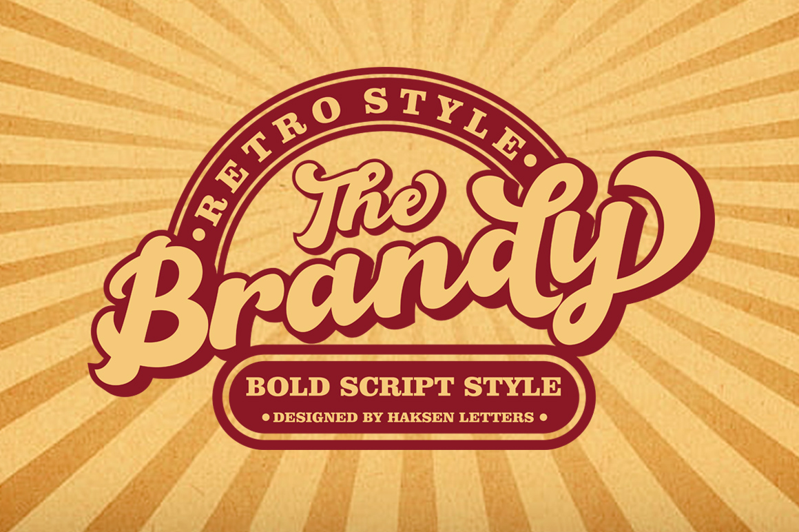 The Brandy Bold Retro Script example image 2