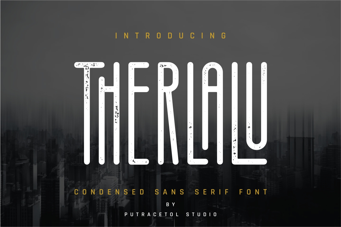 Therlalu - Condensed Sans Serif Font example image 1